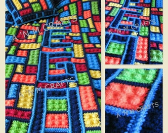 LEGO Inspired Blanket and Pillow