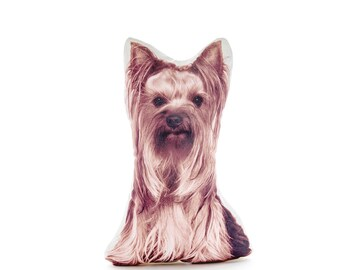 Yorkshire Terrier, Yorkie, puppy, dog pillow, cushion, pillow, animal gift, fun pillow, stuffed dog, pets, children's decor, birthday, gift