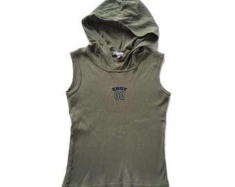 flash sale 20% off Grunge Ribbed ENUF Sleeveless Hoodie Top