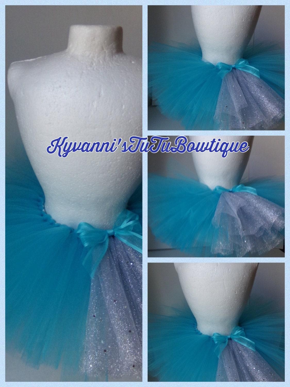 Winter Wonderland Traditional Tutu Skirt Turquoise Silver Baby Toddler