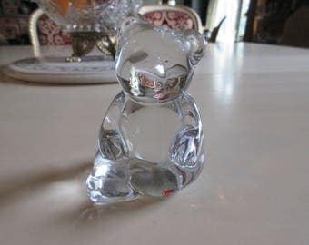 WEST GERMANY PRINCESS House Crystal Bear Paperweight