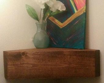 Hidden compartment gun/money floating corner shelf storage gifts for him/her