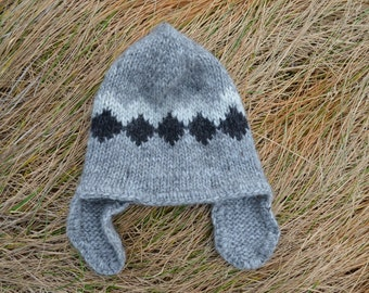 Icelandic wool hat Etsy