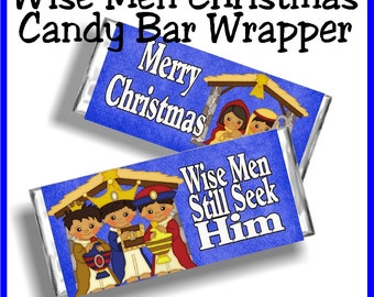 Wise Men Still Seek Him Christmas Candy Bar Wrapper Printable