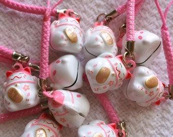 Sakura Lucky Cat Charms 招き猫 *Free Dust Plug Included*