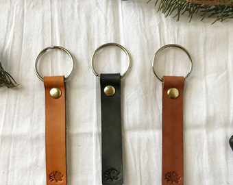 Leather Keychain- Leather Gifts