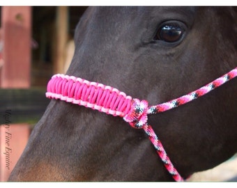 SALE! Pretty In Pink Rope Halter