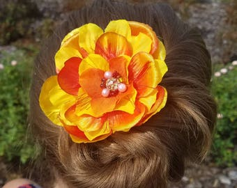 Summer Fall Festive Floral Hair Barrette Clip for a Special Occasion or Event or for Everyday!