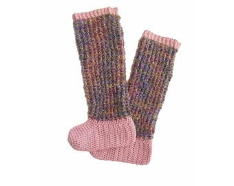 Warm Fuzzy Sock Pattern, Slipper Socks, Fun Sock Pattern, Girls Slipper Socks , Slippers for Ladies, Crochet Socks, Crochet Slippers