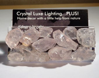 Rose Quartz Business Card Holder - Gemstones//Crystals//Minerals//Geodes