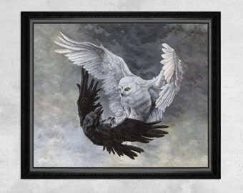 Duality - Owl Print / Raven Print