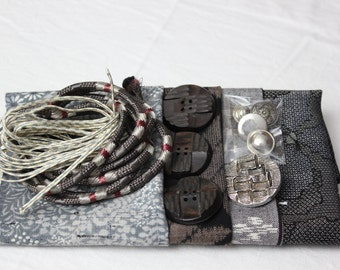 Gift pack of Vintage Japanese Fabric, Buttons & Braid