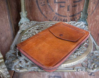 Calf Leather Wallet, Brown Leather Wallet, Mens Wallet, Leather Wallet, Vintage Wallet, Oak Calf Leather, Vintage Leather Wallet, Mens Gift