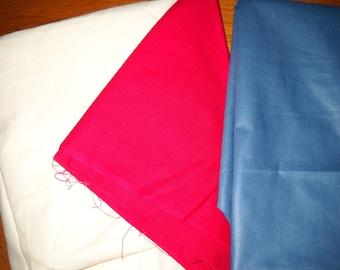 Destash- Solid Colored Cotton Fabric Remnant Assortment