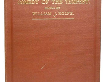 1891 Shakespeare's Comedy of The Tempest