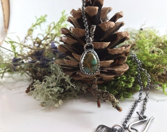 Royston turquoise necklace, rustic turquoise necklace, gifts for her, made in canada,