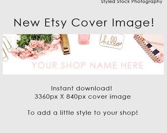 Etsy Cover Photo / Etsy Cover Image / Premade Etsy Banner / Premade Cover Photo / Shop Banner / Cover Image / Stock Photo / Style-128