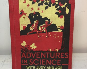 """Upcycled Vintage Hardcover Notebook """"Adventures in Science"""""""