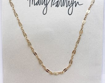 Double Dainty Gold Filled Chain