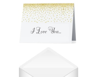 I Love You Card- Heart Card- Romantic Cards- Valentines Day Card- Anniversary Card Wife- Anniversary Card For Husband- Blank Greeting Cards