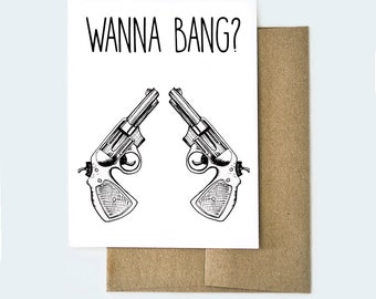 Naughty Valentines Day Card | Funny Valentines Day Card | Bang Card | Funny Love Card | Love Card, Dirty Valentines Card