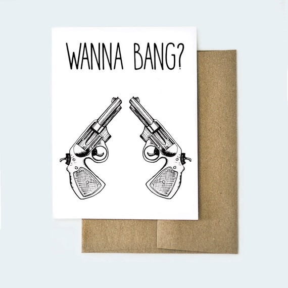 Naughty Valentines Day Card Funny Valentines Day Card Bang – Silly Valentines Day Cards
