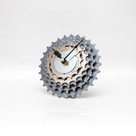 Bicycle Clock - Bicycle Clock - Unique Bike Clock - Industrial Decor - Decorative Clock - Contemporary Clock - Boyfriend Gift - Husband Gift