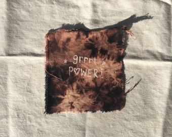 Grrrl Power Acid Wash Cloth Patch