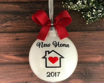 new home ornament christmas ornament personalized housewarming gift house ornament our