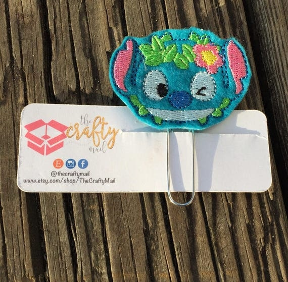 Stitch Planner Clip/Paper Clip/Bookmark/Lilo and Stitch/Character Planning Clip