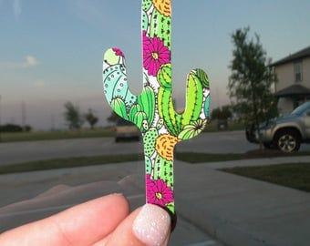 Skinny Cactus Decal