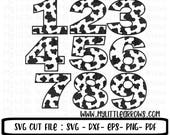 Cow print numbers SVG, Dxf, Eps, png Files for Cutting Machines Cameo or Cricut - farm svg - farm party svg - first birthday svg  cow print