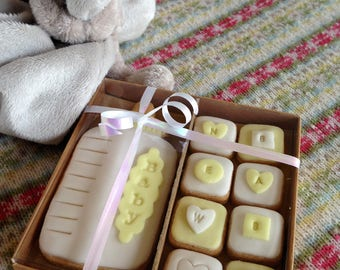 Hand baked new baby biscuits - baby showers/Christenings/births etc