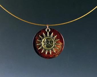 Minimal sun art etsy for Minimal art jewelry