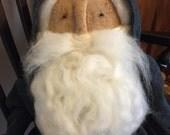Primitive Olde Time Santa in Antique Blue