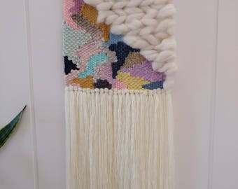Bonnie weaving, woven wall hanging, wall tapestry, wall art