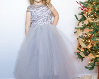 Silver Bells: girls holiday dress, special occasion dress