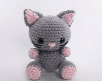 PATTERN: Crochet cat pattern - amigurumi cat pattern - crocheted kitten pattern - cat toy tutorial - PDF crochet pattern
