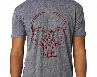 Elephant Skull Screenprint T-shirt