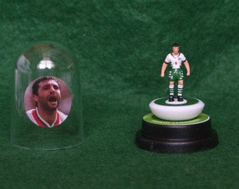Hristo Stoichkov (Bulgaria) - Hand-painted Subbuteo figure housed in plastic dome.