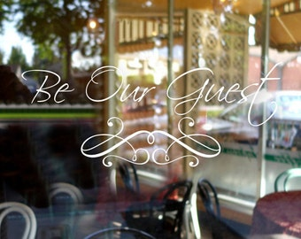 Be Our Guest Bedroom Wall Decal-Guest Room Decor-Guest Room Wall Decal - Guest Bedroom - Guest Bedroom Wall Decal- 154