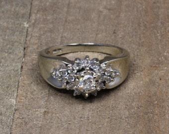 Estate, 14K White Gold Diamond Ring