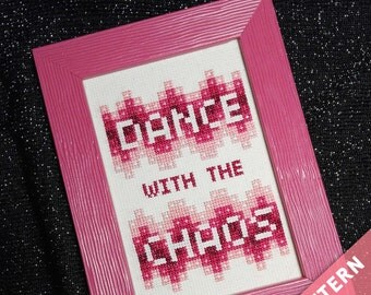 Dance with the Chaos Cross Stitch Pattern