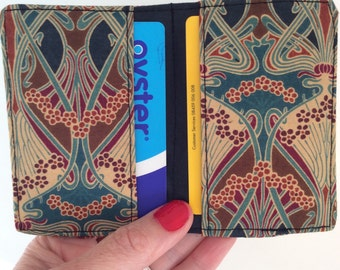 Liberty fabric Card holder, Oyster card holder, travel card, credit card holder
