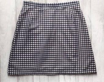 Handmade high waisted gingham skirt. Sizes UK 4-18. Various colours available