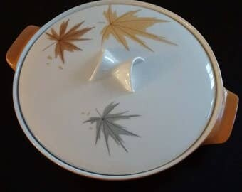 Mid-Century Covered Casserole Dish, Harvest Time by Iroquois Lidded Casserole Dish, Ben Seibel Covered Casserole Dish