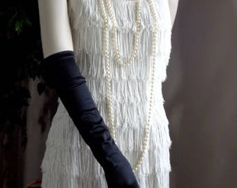Vintage Roaring 20's Flapper Dress - White