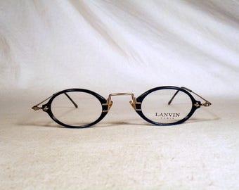fabulous vintage sunglasses lunettes eyeglasses LANVIN carved frame france