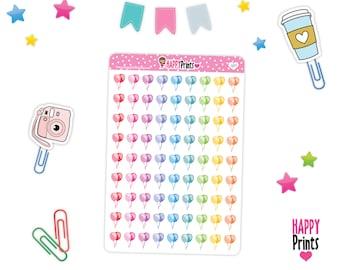 Balloon Planner Stickers, Happy Birthday Stickers, perfect for Planners, Erin Condren, Plum Paper, Happy Planner, Filofax, Kikki.k...