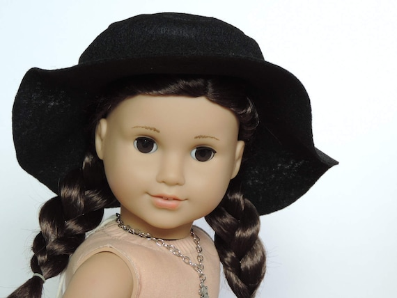 Black Floppy Hat - 18 Inch Doll Clothes